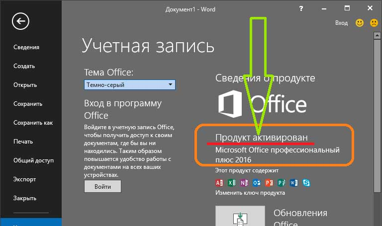 ключ microsoft office 2010 plus